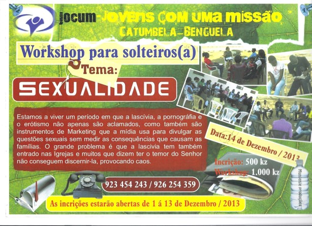 Workshop para solteiros (as)